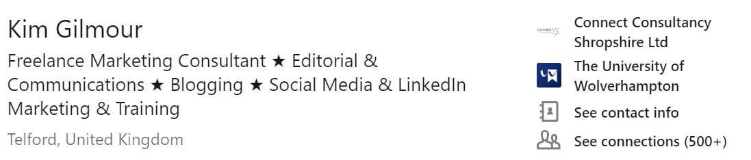 LinkedIn headline image