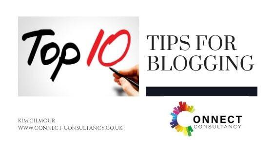 Top ten tips for blogging